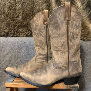 Ariat Brown Leather Western Cowboy Boots